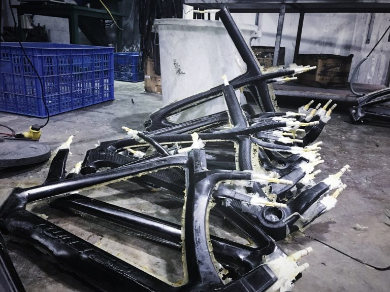 Carbon Frame Before Trimming