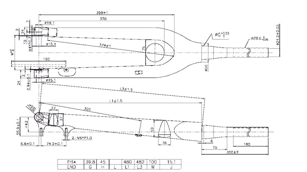 carbon 29er fork geometry