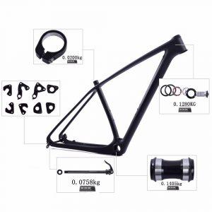 29er mtb hardtail frame free headset thru axle and hanger