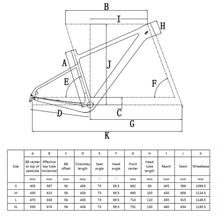 rinasclta 2020 new mtb hardtail frame geometry