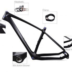 26er carbon fatbike rahmen details