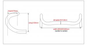 carbon fiber road bike handlebar geometry
