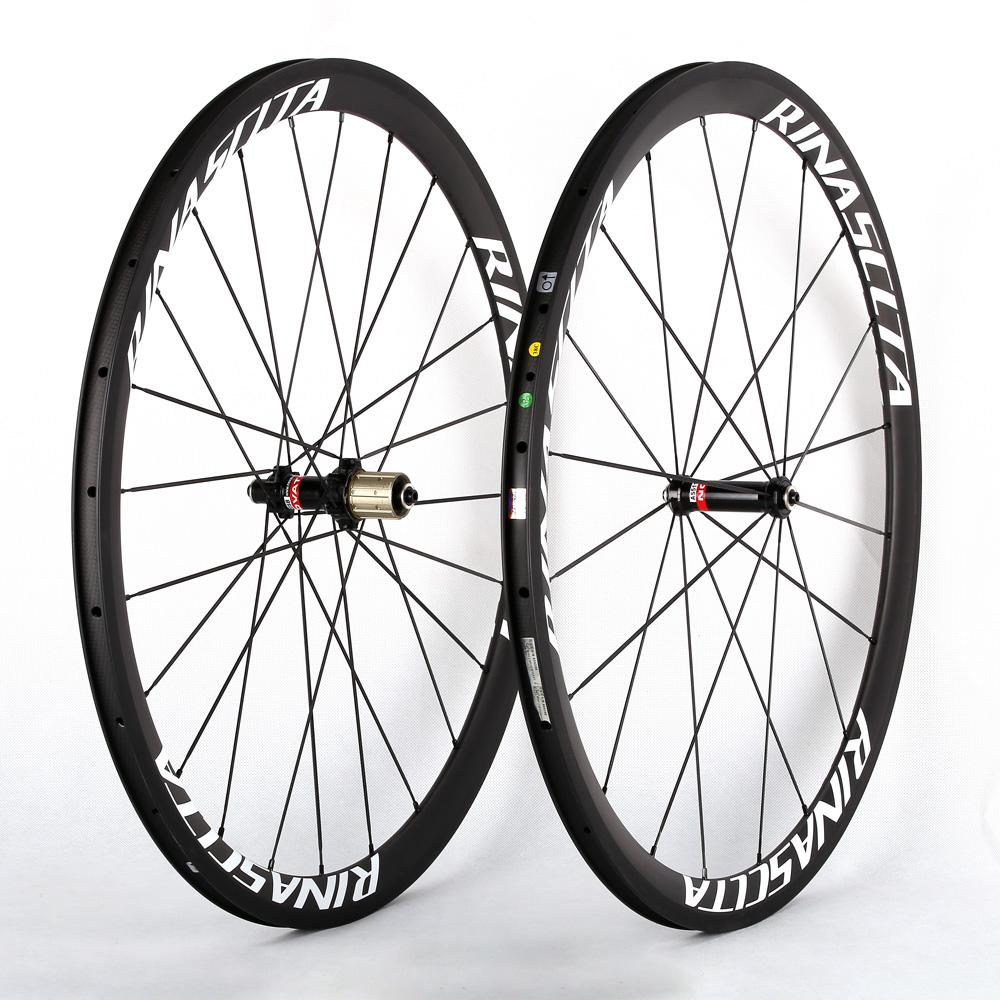 Rinasclta carbon fiber road bike wheelset