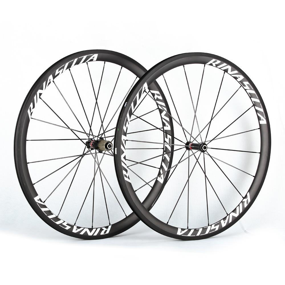 Rinasclta carbon fiber road bike wheelset clincher
