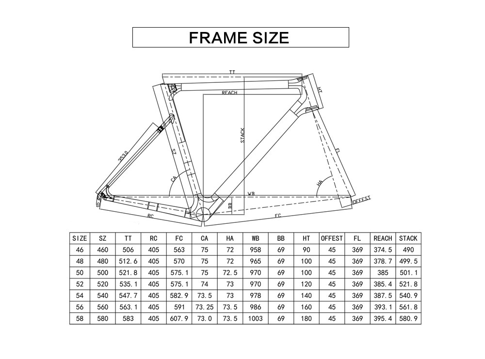 Rinasclta new lightweight frame geometry