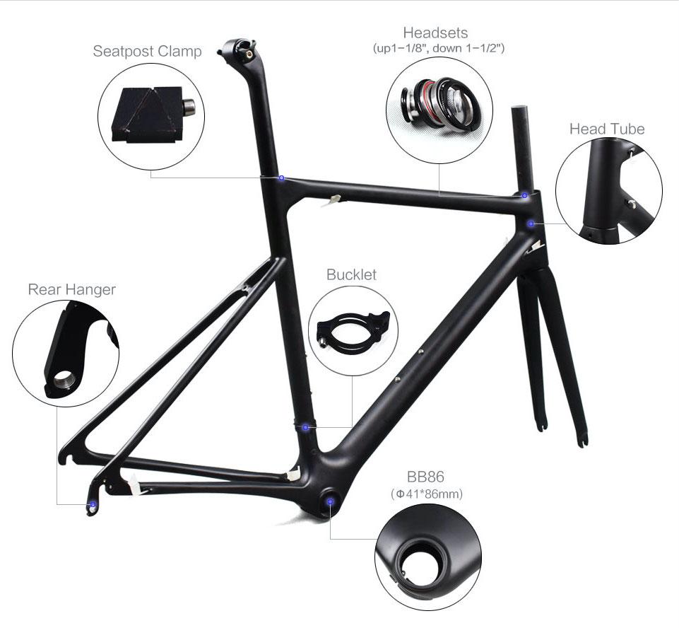 Rinasclta new lightweight frame with parts details