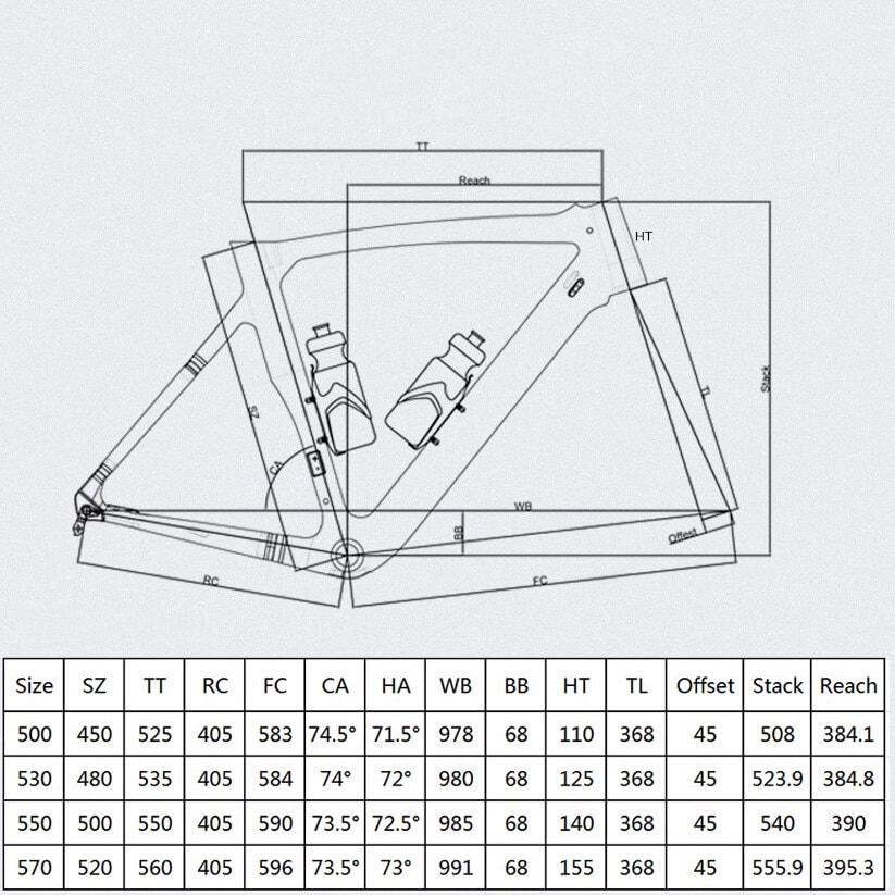 Rinasclta disc brake frameset 2021 geometry_1
