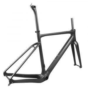 carbon gravel bike frame lower drive side