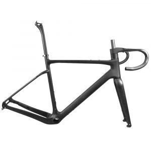carbon gravel bike frame with gravel bike integrated handlebar