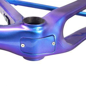 rinasclta carbon gravel bike frame chameleon BB cable cover