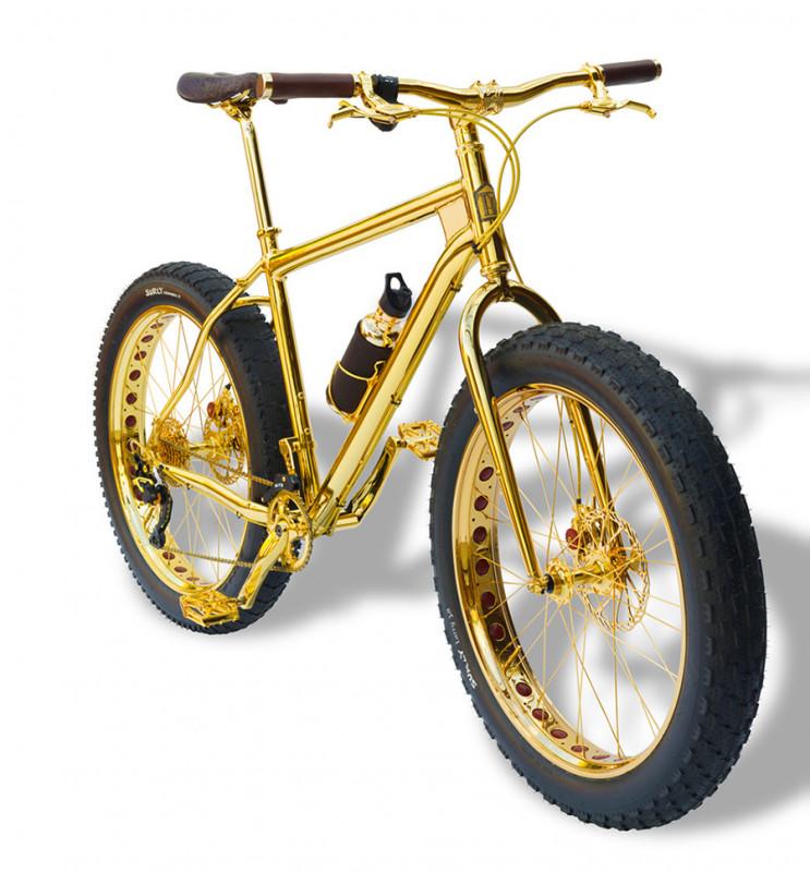 24k gold mtb bike